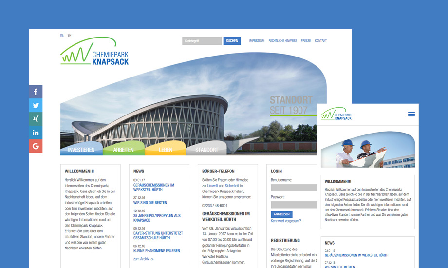 Chemiepark_Knapsack-Website